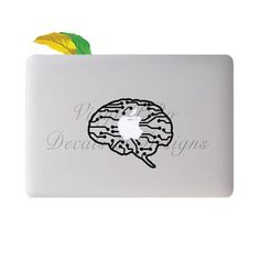 Brain Neurology Circuit Anatomy Frontal Lobe Surgeon Mind Science Medical Doctor Nervous System Electrical Pathway Decal for Macbook