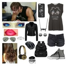 """Backstage with Dean Ambrose"" by kambrose85 ❤ liked on Polyvore featuring Current/Elliott, Converse, Project Social T, Casetify, Sherpani, Forever New, Ray-Ban, SO and Alyssa Jewels"