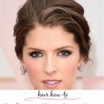 Get the Look – Anna Kendrick's Twisted Tousled Updo at Oscars 2015