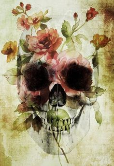 ☆ Skull Vintage Flower.。Art By :→: RUSS ☆