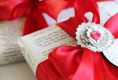 holiday crafting with book pages