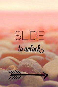 画像:スライドしてロックを解除 - Weboo