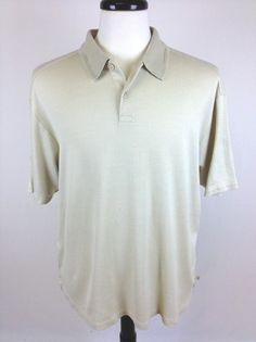 Tommy Bahama Shirt Polo Khaki Short Sleeve Silk BL Pullover Casual Mens XL | eBay