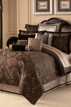 Lansing Comforter Set - Chocolate on HauteLook