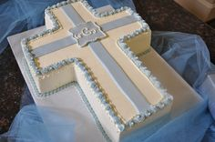 Baptism Cake for Baby Boy By Rustika Cafe