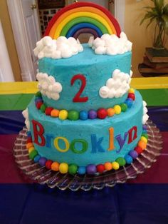 Cake at a Rainbow Party #rainbow #partycake