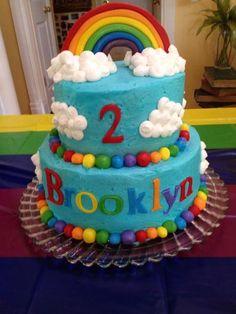 Cake at a Rainbow Party #rainbow #partycake