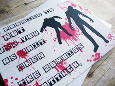 I Promise To NOT Use You As Bait  When Zombies by aLouCreations, $3.85