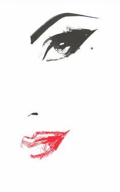 ☮ * ° ♥ ˚ℒℴѵℯ cjf Pencil Drawings, Art Drawings, Art Sketches, Fashion Sketches, Fashion Illustrations, Fashion Illustration Face, Art Illustrations, David Downton, Pop Art