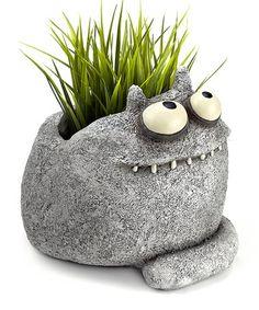 Look what I found on #zulily! Cosmo Cat Planter #zulilyfinds