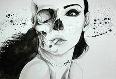 Half woman half skull