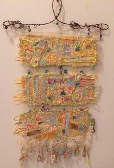 Handmade paper wall hanging.