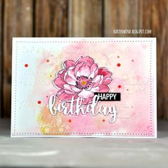 "Video Tutorial - Flower stamp : Altenew Clear Stamp ""Beautiful Day"" Ink pad : Ranger Tim Holtz oxides Ink ""Worn Lipstick"" , ""Fossilized Amber"" , Memento Dye Ink ""Rhubarb Stalk"" , Tsukineko Versafine ""Onyx Black"" Text Stamp : plain text stamp ""Happy Dad Day"" * or ""Happy Mama Day"" * Mask : The Crafter's Workshop Mask ""Art is"" 6x6 """