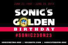 Sonic Retro, The Sonic Stadium,  SEGAbits join forces to celebrate Sonic's 23rd birthday -  Twenty-three years ago today, SEGA changed the future of video games with the release of Sonic the Hedgehog, and to celebrate Sonic's golden birthday (that's when your age matches your birthdate) we're teaming up with The Sonic Stadium and SEGAbits. All week long, all three... http://www.sonicretro.org/2014/06/sonic-retro-the-sonic-stadium-segabits-join-forces-to-cel