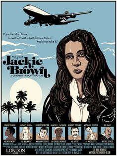 Jackie Brown - fan art by by Christopher Ott at bigcartel.com