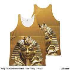 King Tut All-Over Printed Tank Top All-Over Print Tank Top