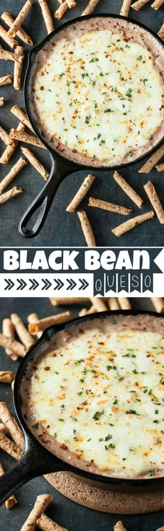 Black Bean Queso :: bold black beans and cheesy pepper jack are a match made in dipping heaven!