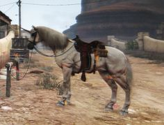 PRESENT: Unicorn from the Undead Nightmare DLC pack for Red Dead Redemption (2010). The unicorn is faster than any other horses in the game, leaves a rainbow trail when it gallops and comes with a butterfly particle effect! (JackFrost23, 2012)