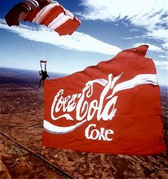 Coca Cola Skydive Advert