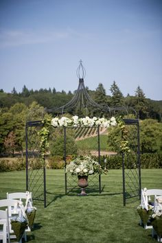 Gorgeous day for a wedding ceremony | Zenith Vineyard in Salem, Oregon
