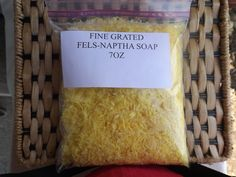 Finely Grated Fels - Naptha For Making Homemade Laundry Soap 7oz by bodybuddiessoap on Etsy