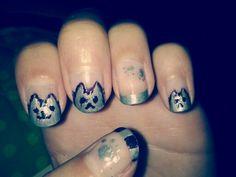 Pusheen cat nails