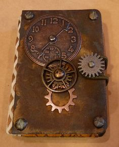 Handmade Steampunk Wallet.  Inspiration to surprise Paul with something to make HIM happy