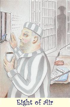 8 of Air card for the Coffee Tarot http://Tarot.Coffee