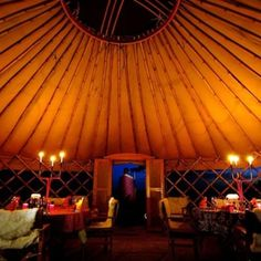 Glamping: Nduara Loliondo, Tanzania  This safari camp moves across the Serengeti with the seasons. The six yurts incorporate the design of Mongolian gers—with the center opening to keep them airy—but with Masai-inspired tribal decor. There's a dining yurt and a lounge yurt with a library