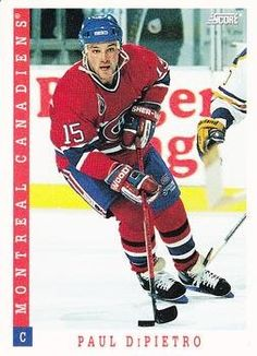 Paul DiPietro 1993-94 Score American NHL Hockey Card 494 Montreal Canadiens *** This is an Amazon Affiliate link. Want to know more, click on the image.