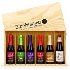 BienManger paniers garnis - Caisse bois de 6 bières belges fruitées
