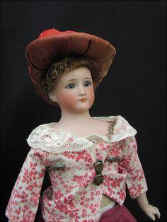 Rare antike Puppe Simon und Halbig 1160-1 Little Woman