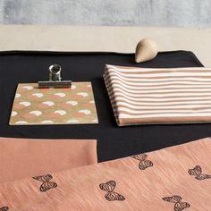 PERHONEN Flamé, Pheasant - Black   Nosh.fi ENGLISH   Nosh.fi ENGLISH   Get inspired by new NOSH fabrics for Spring 2017! Discover new colors, prints and quality organic cotton. Shop new fabrics at en.nosh.fi