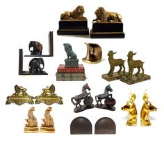 """""""Antique and Vintage Bookends"""" by patack ❤ liked on Polyvore featuring interior, interiors, interior design, home, home decor, interior decorating and vintage"""
