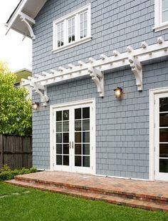 My Crafty Home Life: Pergola Over The Garage Patio Pergola, Garage Pergola, Pergola Canopy, Backyard, Rustic Pergola, Craftsman Cottage, Craftsman Exterior, Exterior Trim, Ranch Exterior