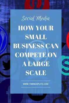 Think your small business can't compete with the big corporations? You can! Click and I'll tell you how! If you are a small business, you know how hard it is to compete with the big guys. The advantage of social media marketing is it's a great equalizer.