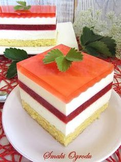 Lemon Cheesecake Recipes, Chocolate Cheesecake Recipes, Food Cakes, Cupcake Cakes, Cookie Recipes, Dessert Recipes, Cake Bars, Polish Recipes, Homemade Cakes
