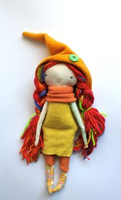 beautiful rainbow haired pixie little lu 12 doll by humbletoys