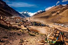 Sunset at the Rongbuk Monastery. Everest