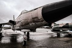 A Republic F-105D-10-RE Thunderchief belonging to the Historic Aviation Memorial Museum at Tyler, Texas' Pounds Regional Airport. See more #photos at 75central.com #aviation #usaf #jets #military