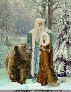 "The Fairy Tale Art of Howard David Johnmson; Contemporary fairy tale and story book illustrations.""    ---   The Snow Maiden"