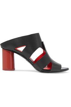 Proenza Schouler - Cutout Leather Mules - Black - IT40.5