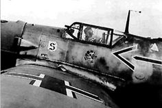 Adolf Galland in the cockpit.