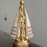 Imagem Nossa Senhora Aparecida Azul E Branca, Pérolas, 20 Cm - R$ 50,00