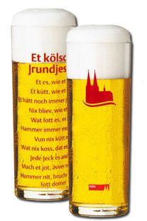 """Kölschglas """"Grundgesetz"""" mit den 11 Paragraphen des Kölschen Grundgesetzes. - Der KölnShop"""