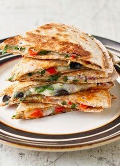 Greek Quesadillas |  I love the twist on Quesadilla and making them Mediterranean.