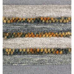 Silk wool blue grey multicolor rug