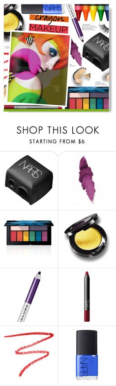 """""""Crayon Makeup"""" by chocolate-addicted-angel ❤ liked on Polyvore featuring beauty, NARS Cosmetics, Maybelline, Smashbox, Marc Jacobs, Surratt, Beauty, trending and crayonlips"""