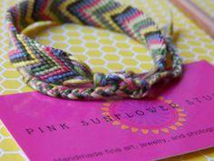 Bracelet d'amitié Chevron par PinkSunflowerStudio sur Etsy
