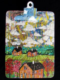 """""""Farming on the First Day of Earth""""  By Goodwill Art Studio & Gallery artist, Betty Angel"""